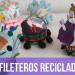 Alfileteros reciclados